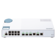 QSW-M408-4C, 8 port 1Gbps, 4 port 10G SFP+/ NBASE-T Combo, web management switch