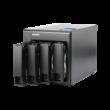 4-Bay NAS, 2GB DDR3 SODIMM RAM (max 8GB), SATA 6Gb/s, 1x 10GbE SFP+ LAN, 2x GbE