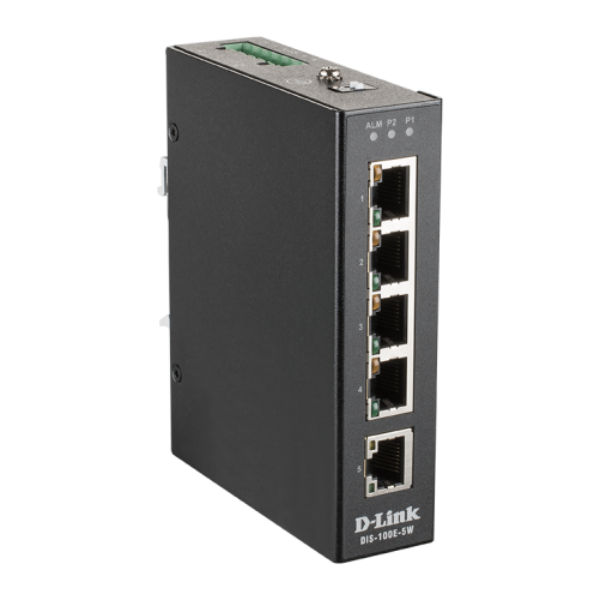 D-link 5 Port Unmanaged Switch with 5 x 10/100 BaseT(X) ports