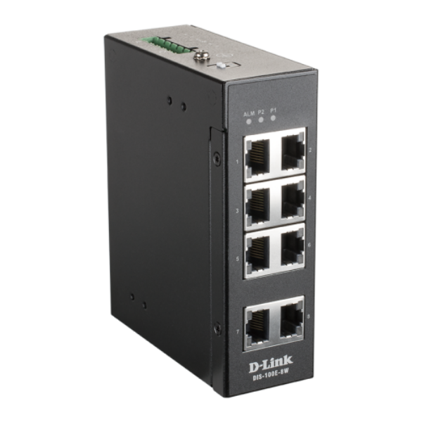 D-link 8 Port Unmanaged Switch with 8 x 10/100 BaseT(X) ports
