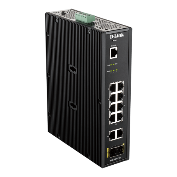 D-link 12 Port L2 Industrial Smart Managed Switch with 10 x 1GBaseT(X) ports & 2
