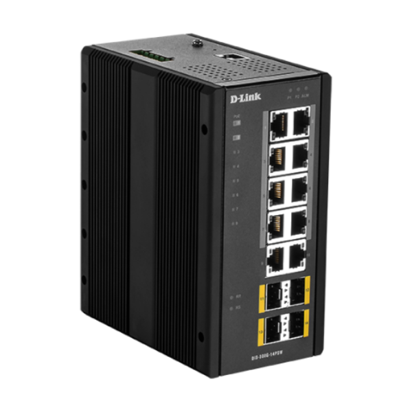 D-link 14 Port L2 Managed Switch with 10 x 10/100/1000BaseT(X) ports (8 PoE) & 4