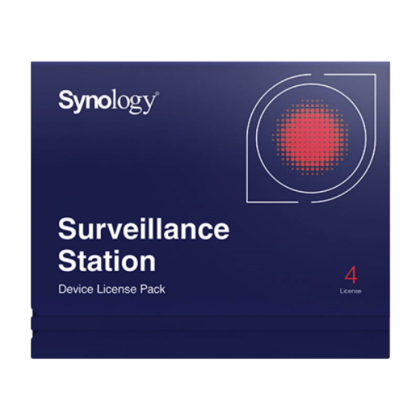 Synology Device license pack - 4, Licenc 4 kamerához vagy I/O modulhoz