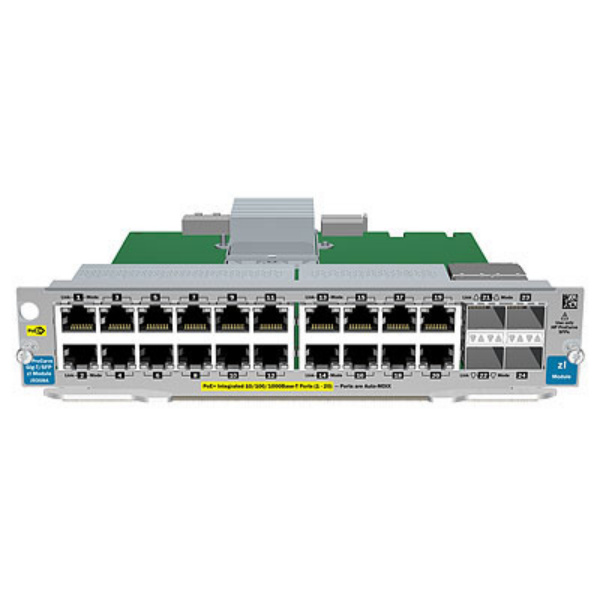 HP 20-port GT PoE+/4-port SFP v2 zl Mod