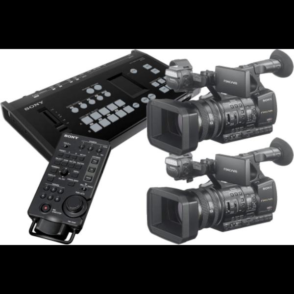 MCX500 with 1 x RM-30BP & 2 x HXR-NX5R