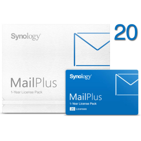 Synology MailPlus license pack - 20 email-fiókhoz