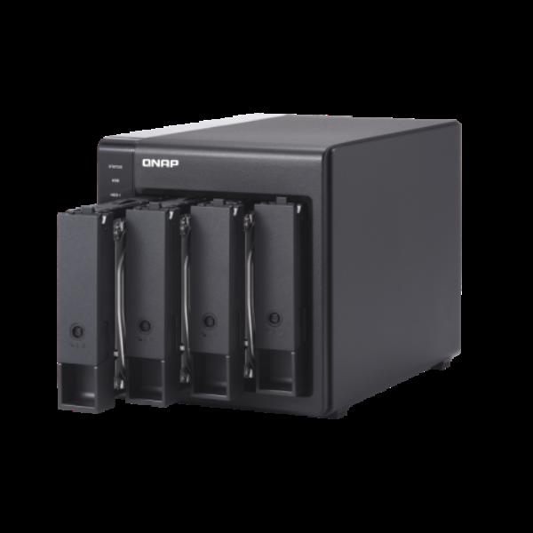 "4-bay 3.5"" SATA HDD USB 3.0 type-C hardware RAID external enclosure. USB-C to US"