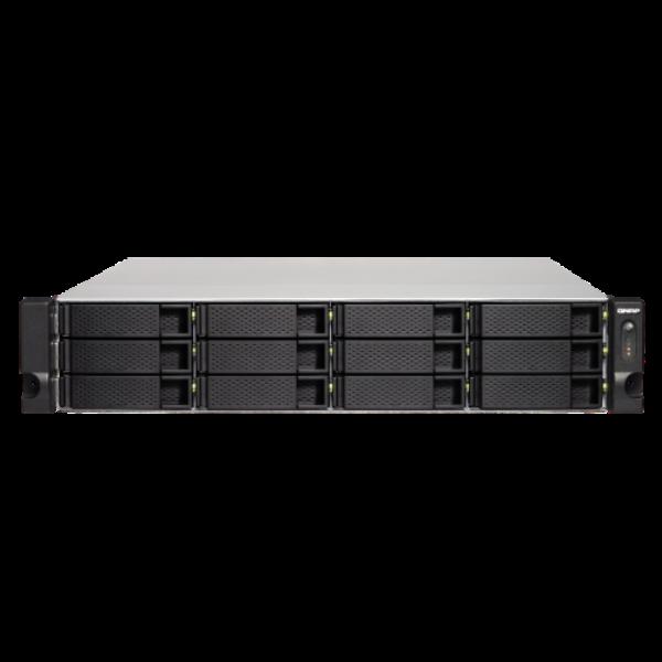12-Bay TurboNAS, AMD Quad-Core 2.0GHz, 4GB DDR3L RAM (max 16GB), 1 x 10GbE 10GBA