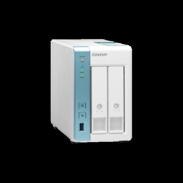 2-Bay NAS, Annapurna Labs AL214 Quad core 1.7GHz, 1GB RAM, SATA 6Gb/s,  2x GbE L