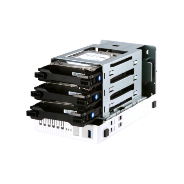 3-Bay NAS, AL324 64-bit quad-core 1.7GHz, 2GB DDR4 SODIMM RAM (1 x 2GB, max 16GB