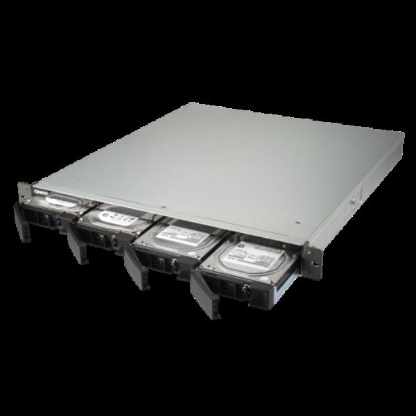 4-Bay quad-core 1.7 GHz rackmount NAS with 250W PSU, 2GB DDR4 UDIMM RAM (max 16G