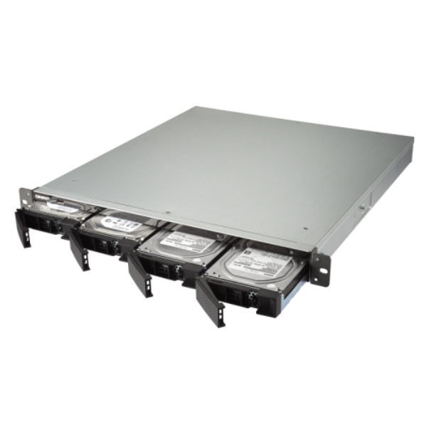4-Bay TurboNAS, AMD Quad-Core 2.0GHz, 4GB DDR3L RAM (max 16GB), 1 x 10GbE 10GBAS