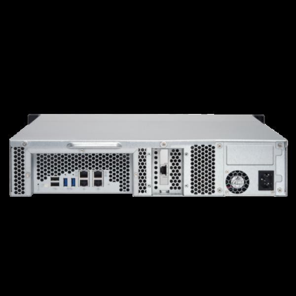 8-Bay TurboNAS, AMD Quad-Core 2.0GHz, 4GB DDR3L RAM (max 16GB), 1 x 10GbE 10GBAS