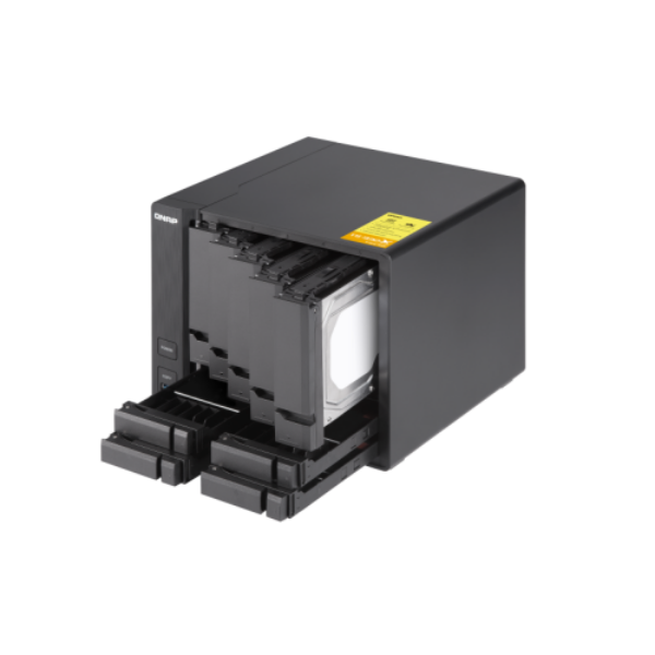 9-Bay NAS, AL324 64-bit quad-core 1.7GHz, 2GB DDR4 SODIMM RAM (1 x 2GB, max 16GB