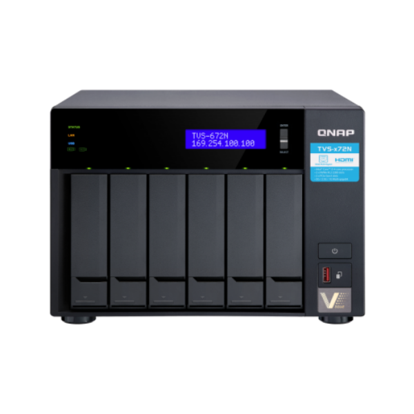 6-Bay NAS, Intel® Core™ i3-8100T 4-core 3.1 GHz Processor, 8GB DDR4 RAM (max 32G